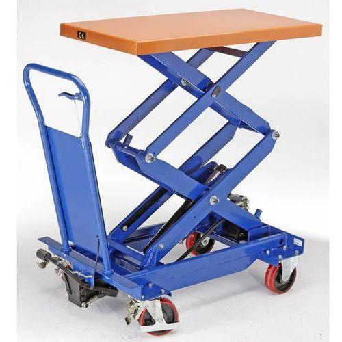 Platformowy wózek podnośnikowy podwójne nożyce, nośność 650 kg, zakres podnoszen