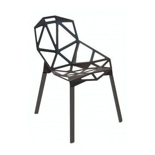 Krzesło kors czarny z czarnymi nogami marki Malodesign