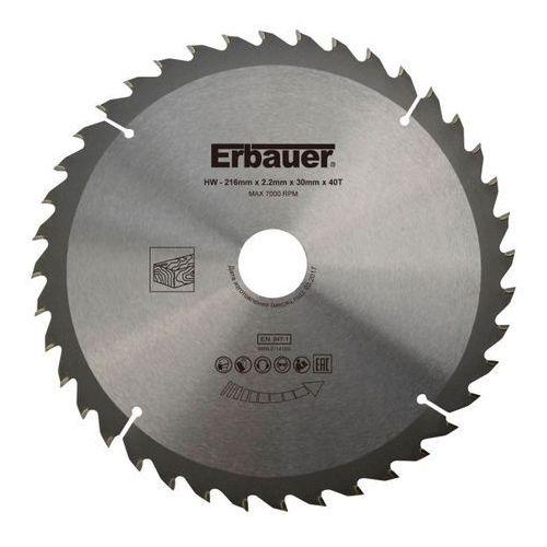 Tarcza do drewna Erbauer 216 x 30/25/20/16 mm 40T (3663602813057)