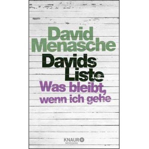 Davids Liste Menasche, David (9783426657386)