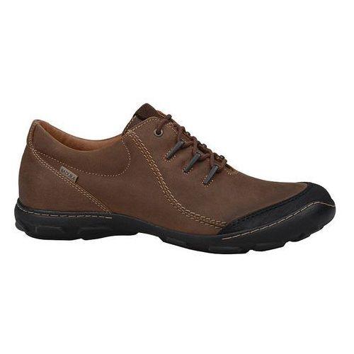 Półbuty męskie 2159-074 brązowe - brązowy marki Badura