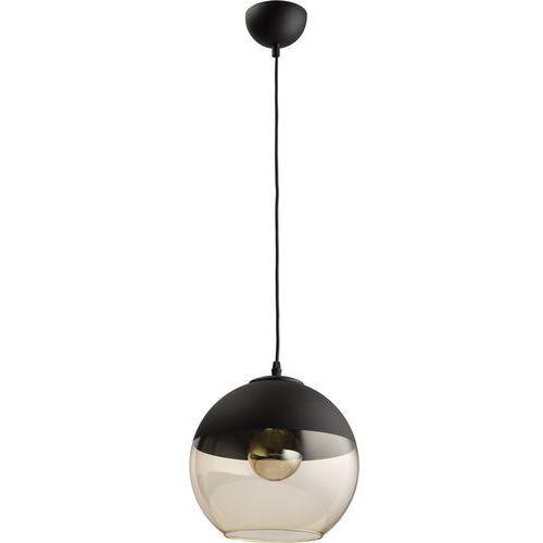 Lampa wisząca zwis TK Lighting Amber 1x60W E27 czarna / bursztyn / grafit 2380, kolor Czarny