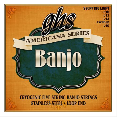 Ghs americana ″ struny do banjo, light