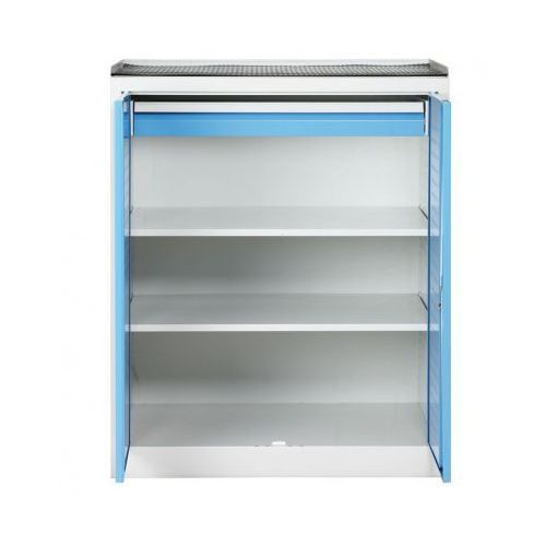 B2b partner Szafa warsztatowa niska z perforowaną ścianką tylną, 2 półki, 1 szuflada