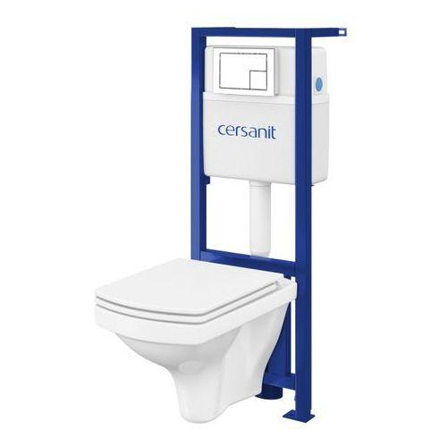 Zestaw podtynkowy WC Cersanit Xeno Easy z miską bezkołnierzową i deską wolnoopadającą