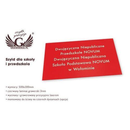 SZYLD DLA SZKOŁY I PRZEDSZKOLA - SZ082 - wym. 500x300mm
