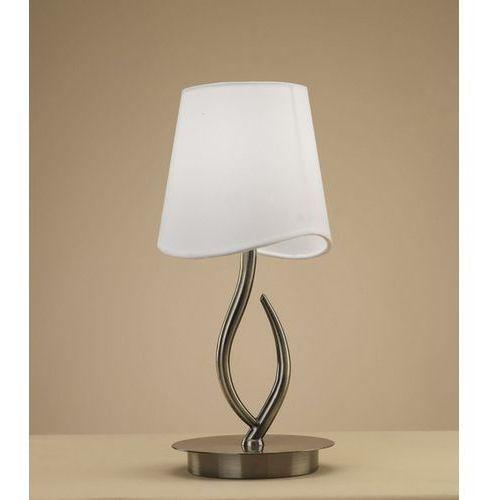 Lampa biurkowa ninette 1l antyczny mosiądz - kremowy klosz, 1925 marki Mantra