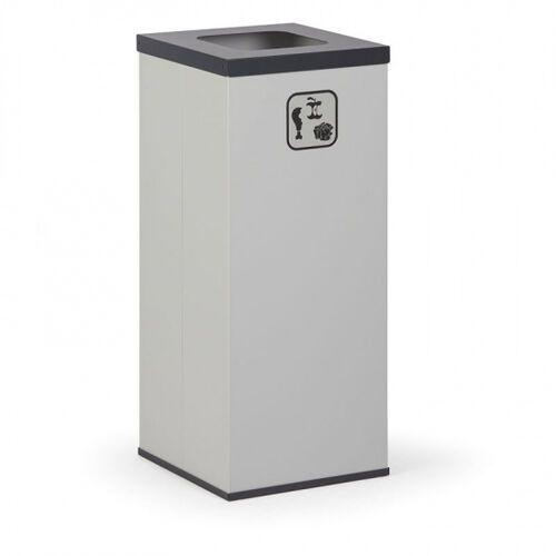 Kosz do segregacji śmieci, 50 l, bez wewnętrznego pojemnika, szary/czarny marki B2b partner