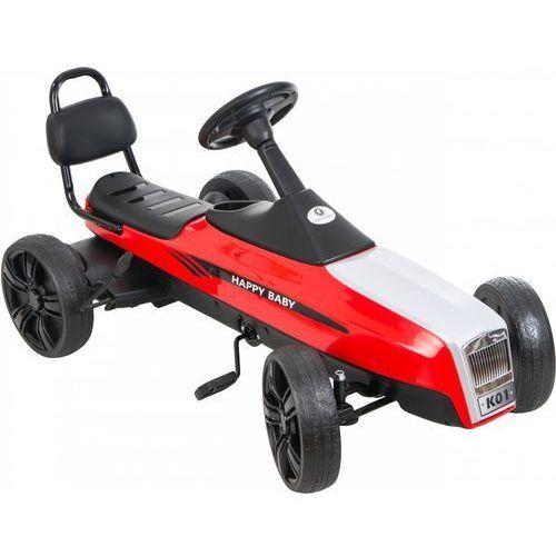 Gokart na pedały KIDZ MOTION RETRO jeździk dla dzieci 5-12 lat Czerwony + DARMOWY TRANSPORT!