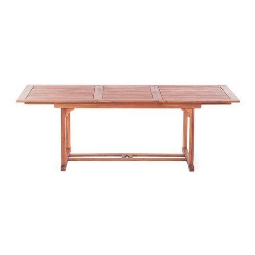 Beliani Stół ogrodowy drewniany 160/220 x 90 cm prostokątny rozkładany toscana (7081459875602)