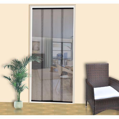vidaXL Moskitiera do drzwi, 220 x 100 cm, czarna, poliester (8718475877257)