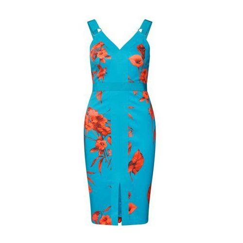 sukienka 'jordja' turkusowy / jasnoczerwony marki Ted baker