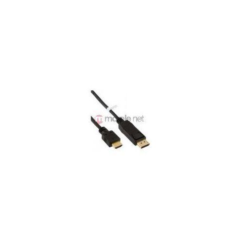 InLine kabel DisplayPort / HDMI konwerter, czarny, 3m z kategorii Kable video