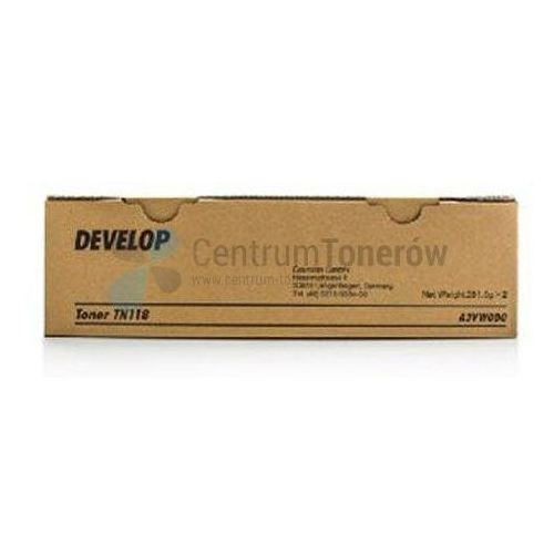 Develop oryginalny toner a3vw0d0, black, 2x12000s, tn-118, develop ineo 215