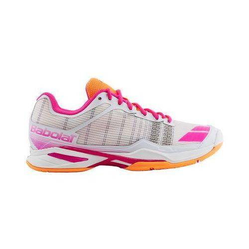 jet team all court woman - white orange pink marki Babolat