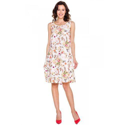Elegancka sukienka w kwiaty - Bialcon