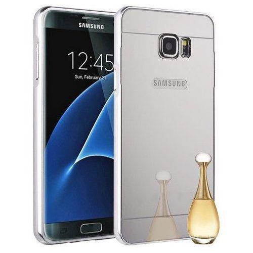 Mirror Bumper Metal Case Srebrny | Etui dla Samsung Galaxy S7 Edge - Srebrny, kolor Srebrny
