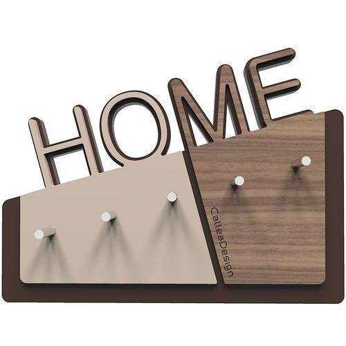 Wieszak na klucze Home CalleaDesign orzech włoski (18-001-85)