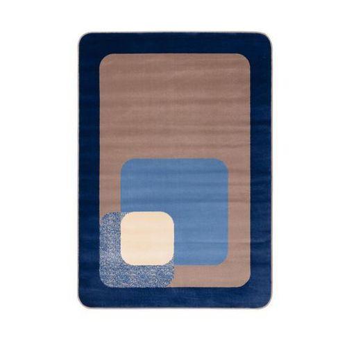 Dywan round niebieski 160 x 220 cm marki Agnella