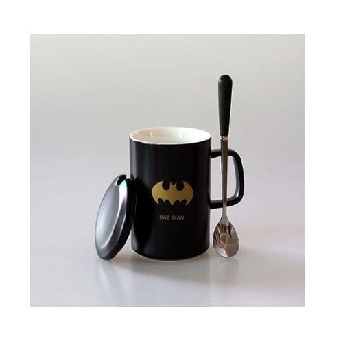 E-webmarket Kubek ceramiczny superhero z łyżeczką i przykrywką - batman - batman