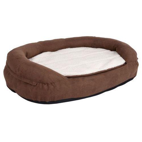 Ortopedyczne legowisko dla psa memory oval, brązowe - dł. x szer. x wys.: 118 x 74 x 24 cm marki Zooplus exclusive