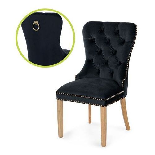 Atreve Krzesło madame ii gold czarny/dąb tr16