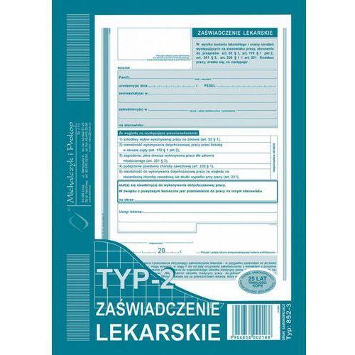 Zaświadczenie lekarskie Michalczyk&Prokop 852-3 - A5 (wielokopia)