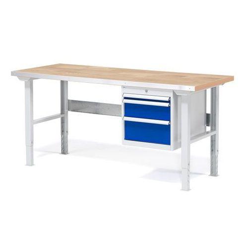 Stół warsztatowy Solid, zestaw z 3 szufladami, 500 kg, 1500x800 mm, dąb