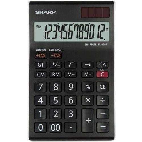 Kalkulator desktop box el124twh czarny marki Sharp