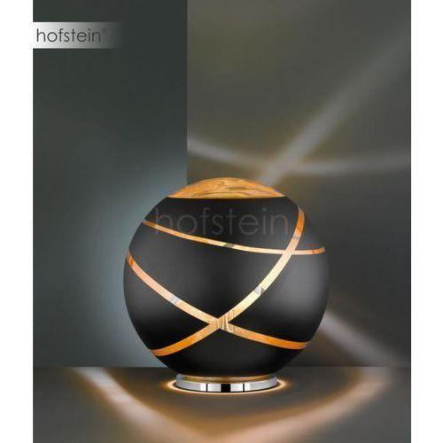 Trio Stojąca lampa stołowa faro 506190132 szklana lampka nocna kula ball czarna (4017807355857)