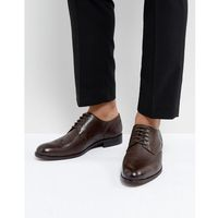 Dune wing tip shoes brown leather - brown