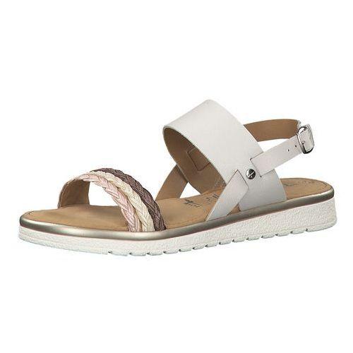 Tamaris sandały beżowy / kasztanowy / stary róż / biały