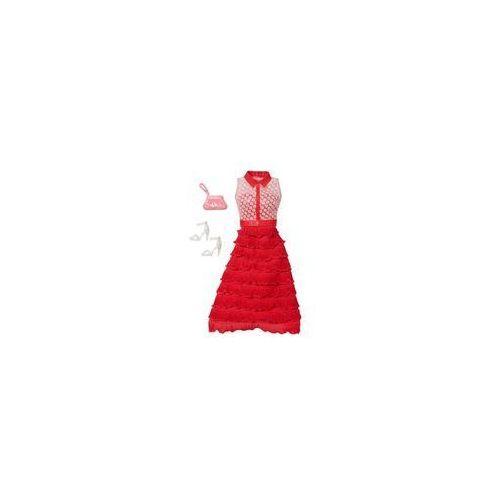 sukienka z dodatkami mattel (czerwona) marki Barbie