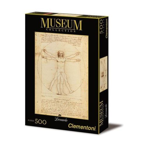 Clementoni , puzzle museum collection leonardo vitruvian man (8005125350018)