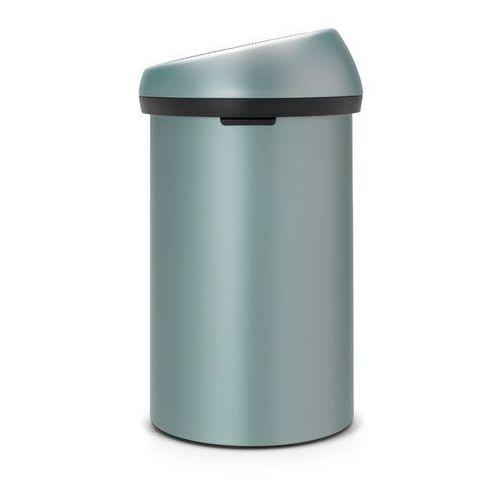 Brabantia - Kosz 'Touch Bin' - pokrywa plastikowa - 60L - miętowy metallic
