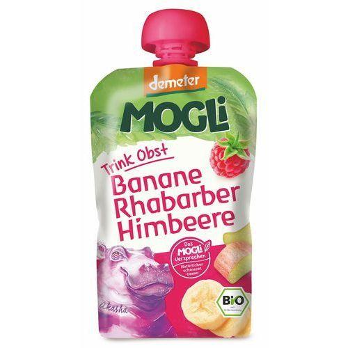 Mogli (moothie owocowe, batony, napoje) Moothie przecier bananowy z rabarbarem i maliną bio 100 g - mogli (4260311980460)