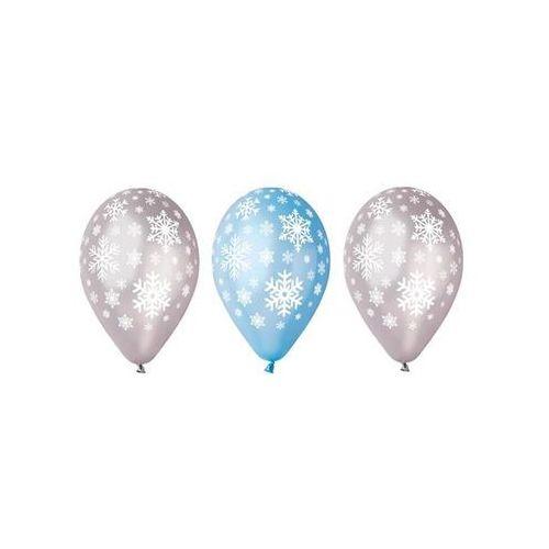 Balony płatki śniegu na boże narodzenie - 30 cm - 5 szt. marki Go