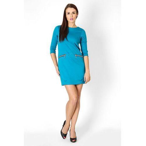 Sukienka oxana błękit marki Vera fashion
