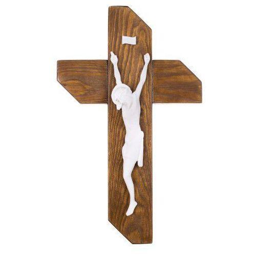 Krzyż drewniany z alabastrowym Chrystusem, UR715
