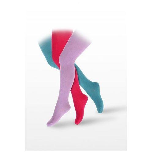 Rajstopy kids bawełniane gładkie w28.00 2-6 lat 92-98, różowy/pink c55, wola marki Wola