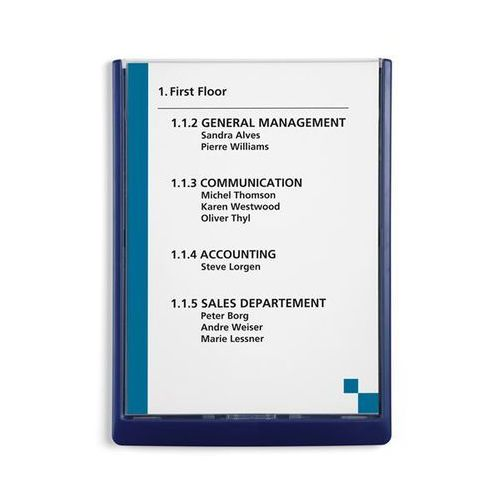 Durable Tabliczka informacyjna, wys. x szer. x głęb. 325x235x15 mm, opak. 5 szt., ciemno