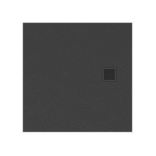 New Trendy | Brodzik MORI kwadratowy, konglomerat 90x90x3cm szary B-0395, B-0395