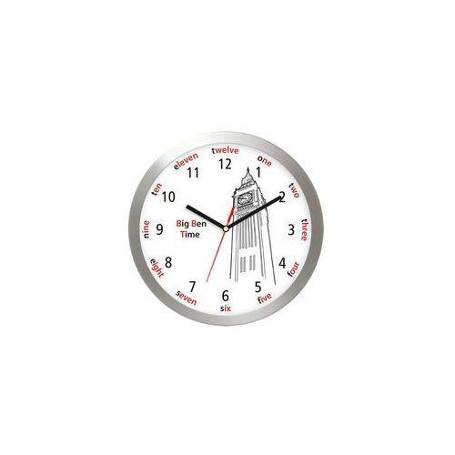 Aluminiowy zegar ścienny Big Ben Londyn