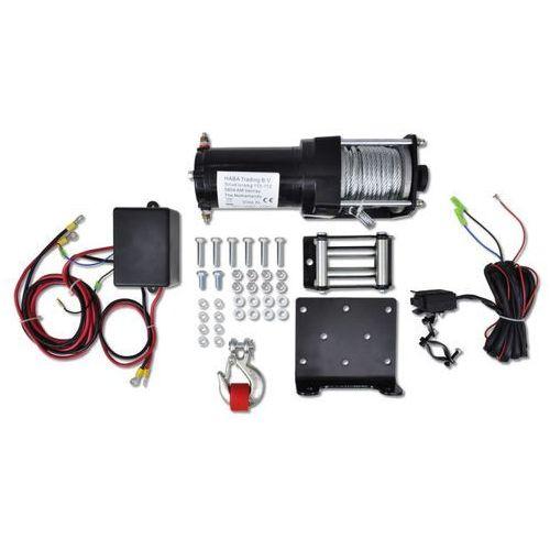 Vidaxl wciągarka elektryczna 12v, 1360 kg, z prowadnicą liny