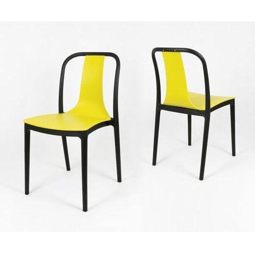 Sk design kr053 żółte krzesło polipropylenowe - żółty ||czarny (5902846828365)