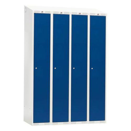 Szafka do przebieralni -4 sekcje 1900x550x1200mm kolor drzwi: niebieski marki Aj