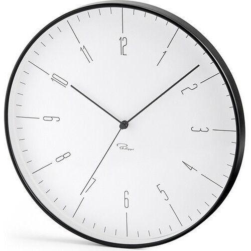 Zegar ścienny Cara czarny, kolor czarny
