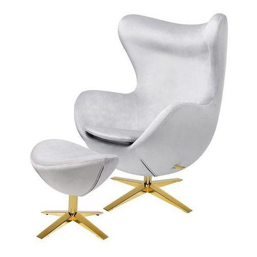 Produkt wycofany Fotel egg szeroki velvet gold z podnóżkiem he-066.hm8+otto.37g -king home