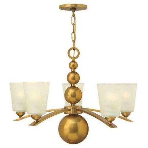 Hinkley Żyrandol lampa wisząca hk/zelda5 vs elstead szklana oprawa w stylu retro kule mosiądz biała