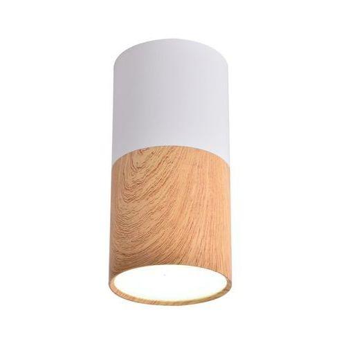 Oprawa natynkowa TUBA IP20 śr. 5.8 cm biało-drewniana LED CANDELLUX (5906714873655)